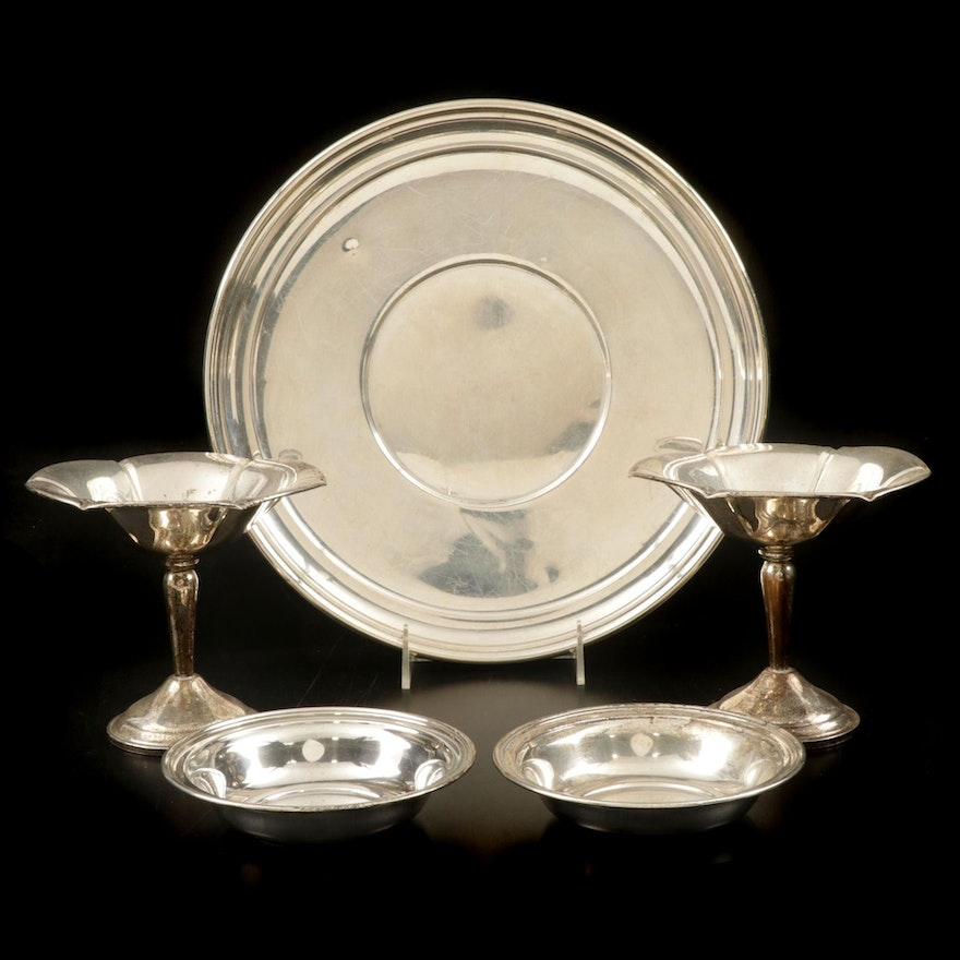 Randahl Sterling Bowls With Other Sterling Silver Tray and Compotes