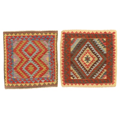3' x 3' Handwoven Afghan Kilim Accent Rugs