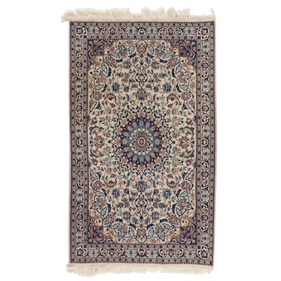 3'9 x 6'7 Hand-Knotted Floral Wool Accent Rug
