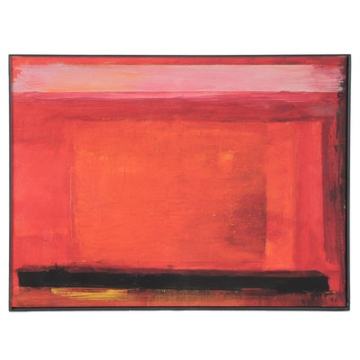 "Abstract Giclée after Robert Lackney ""Red Memories,"" 21st Century"