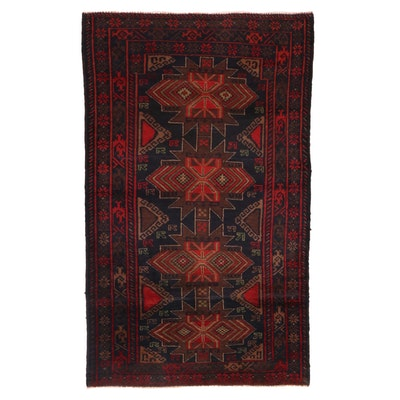 3'3 x 5'4  Hand-Knotted Afghan Baluch Wool Area Rug