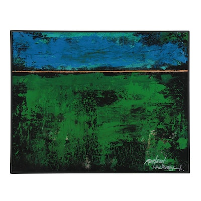 "Abstract Giclée after Robert Lackney ""Serenity,"" 21st Century"