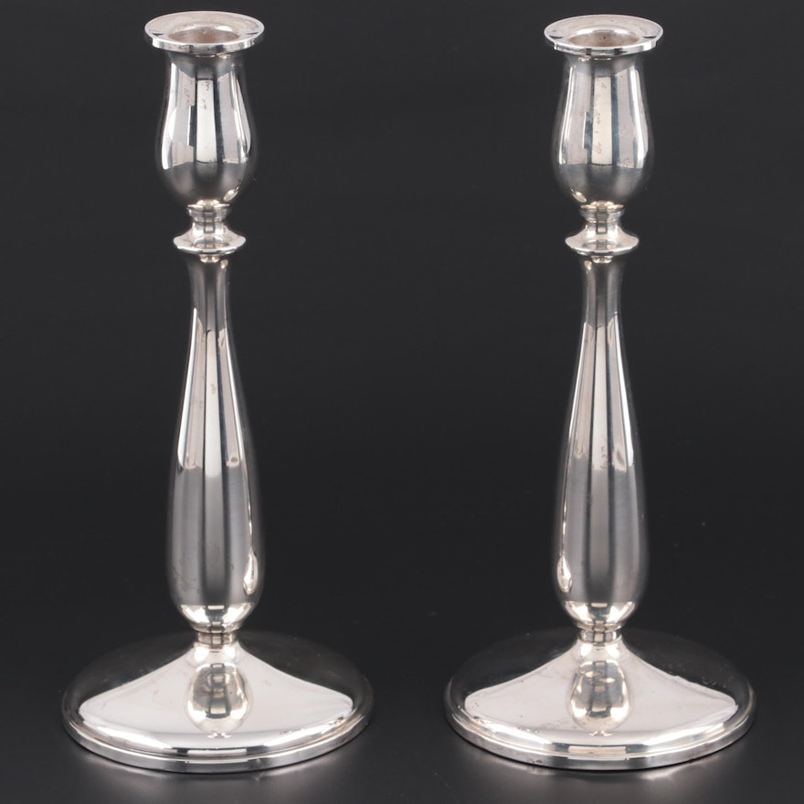 Cartier Weighted Sterling Silver Candlesticks