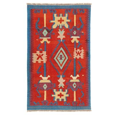 3'9 x 6'4 Handwoven Afghan Village Kilim Area Rug