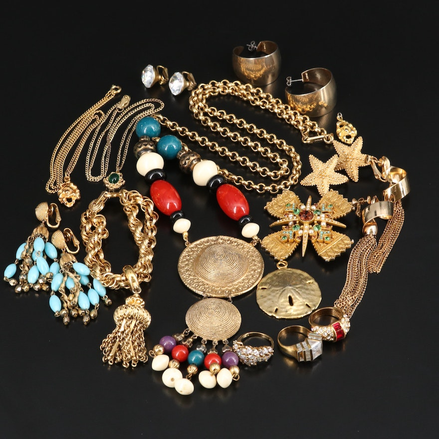 Jewelry Including Vogue and Trifari Earrings