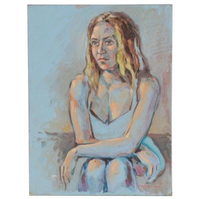 Raymond Zaplatar Figure Acrylic Painting, 2014