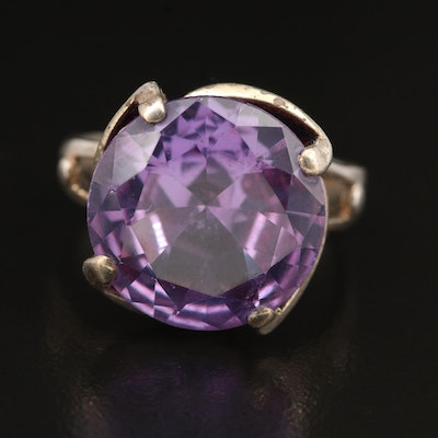 Vintage Color Change Sapphire Ring in Sterling