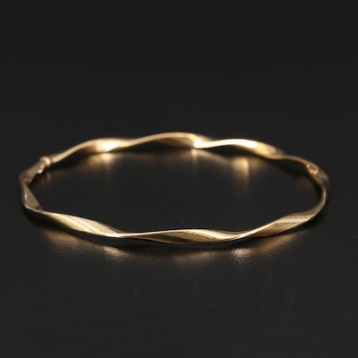 18K Twisted Bangle