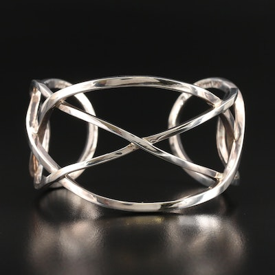 Laurent Leger 950 Silver Intertwined Cuff