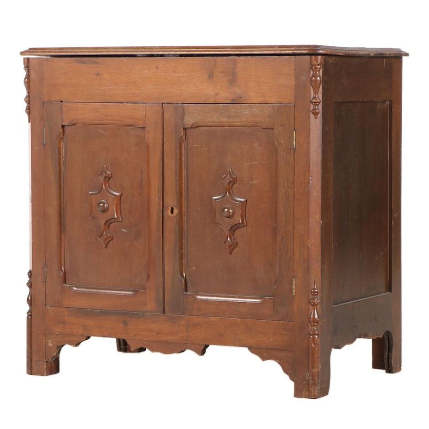 Walnut Lift Top Dry Sink, Late 19th/Early 20th Century