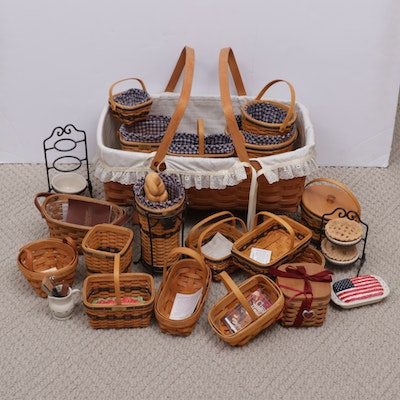 Longaberger Baskets and Other Decorative Accessories, Late 20th Century