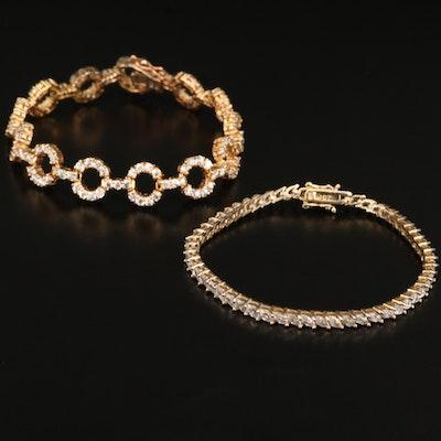 Sterling Cubic Zirconia Bracelets