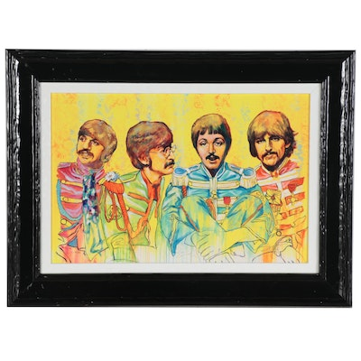 "Stephen Fishwick Embellished Giclée ""Sergeants of Rock,"" 21st Century"