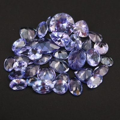 Loose 12.96 CTW Mixed Faceted Tanzanites