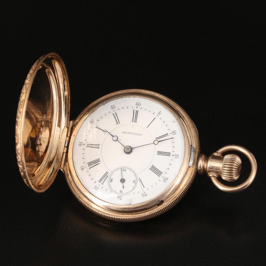 """Swiss Fake"" Hartford Pocket Watch"