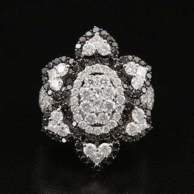 18K 4.40 CTW Diamond Flower Ring