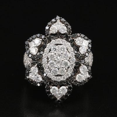 18K 4.40 CTW Diamond Flower Ring