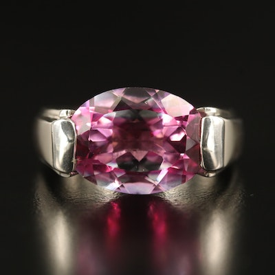 Laurent Léger 950 Silver Sapphire Tension Ring