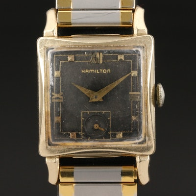 1951 Hamilton Ryan 10K Gold Filled Stem Wind Wristwatch
