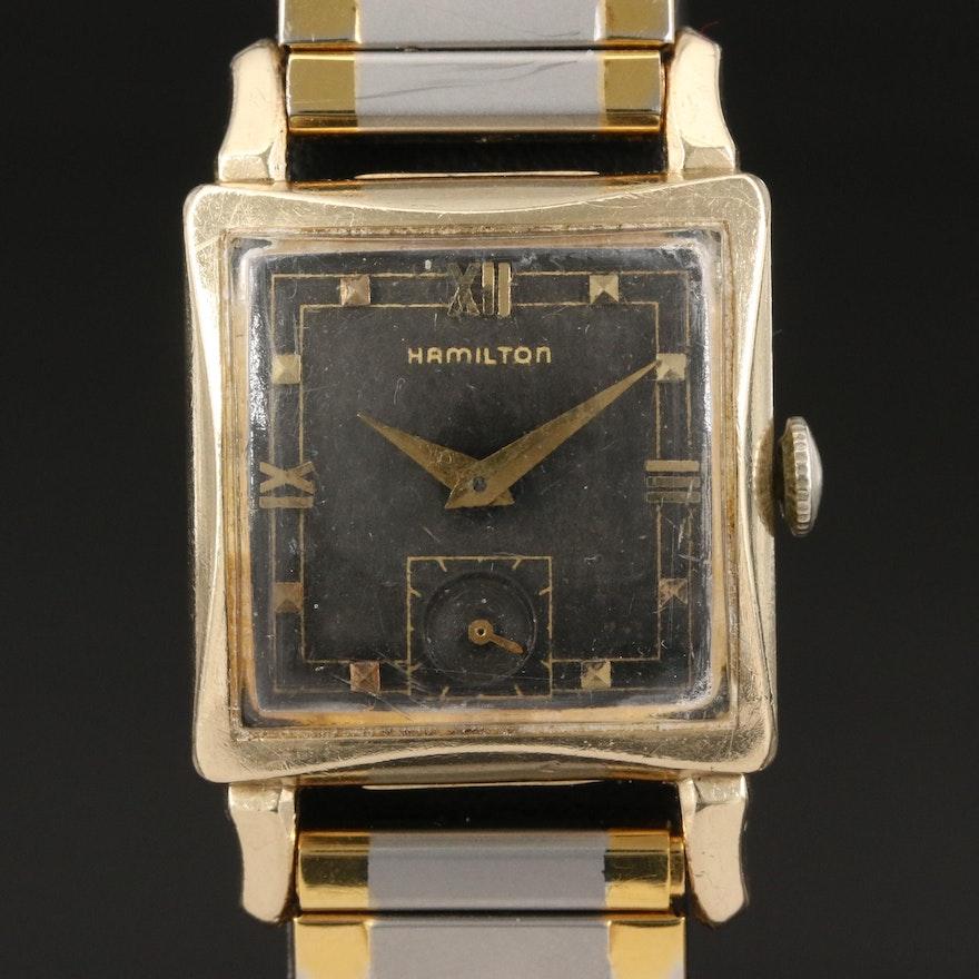 1951 Hamilton Ryan 10K Gold Filled Stem Wind Wristwatch