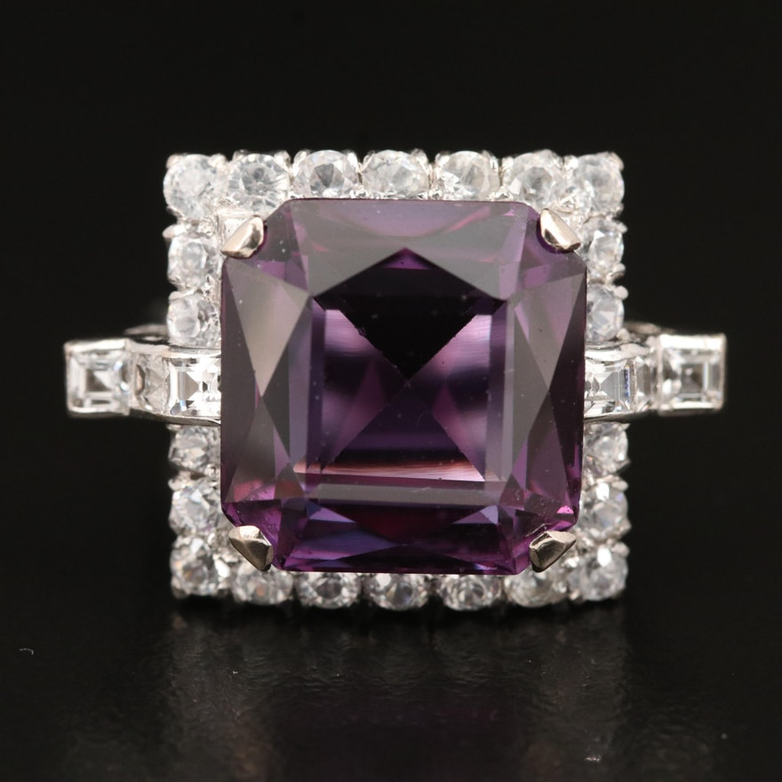 Vintage 10K Color Change Sapphire, Spinel and Zircon Ring