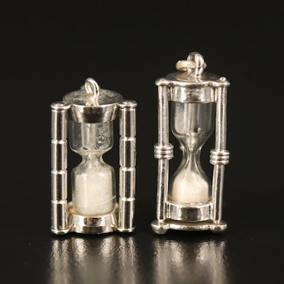 Sterling Hourglass Pendants