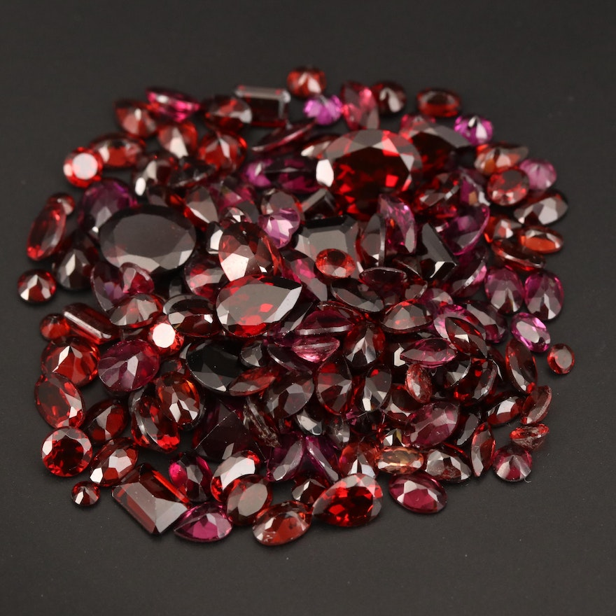 Loose 108.37 CTW Faceted Garnet Selection