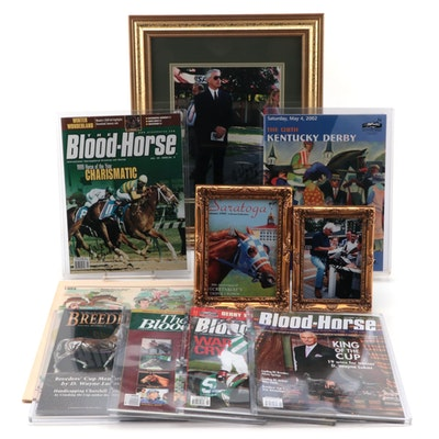 Signed 2002 Kentucky Derby Program and More Horse Racing Memorabilia