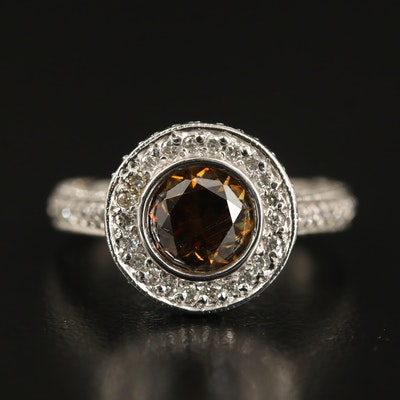 14K Moissanite and 1.53 CTW Diamond Ring