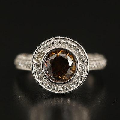 14K Moissanite and 1.53 CTW Diamond Ring