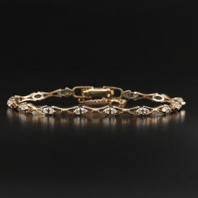 14K Diamond Link Bracelet