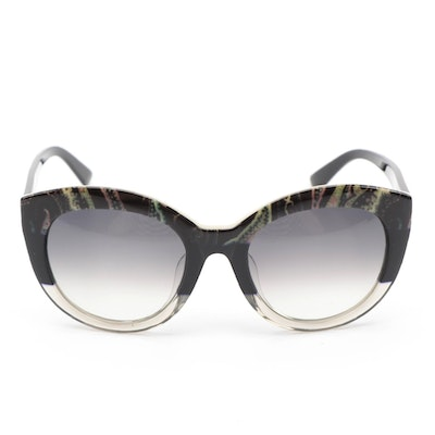 ETRO ET600SA Paisley Black Modified Cat Eye Sunglasses