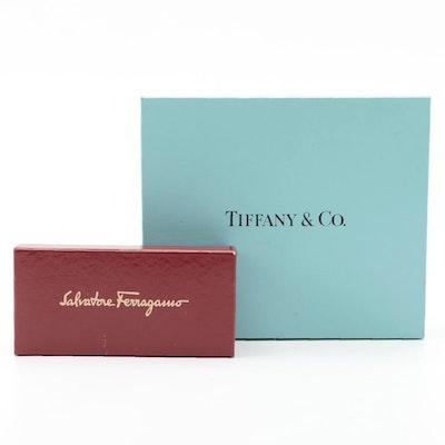 Tiffany & Co. and Salvatore Ferragamo Retail Boxes