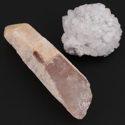 Quartz Point and Calcite Mineral Specimens