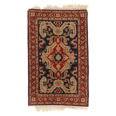 3'11 x 6'10 Hand-Knotted Floral Wool Area Rug