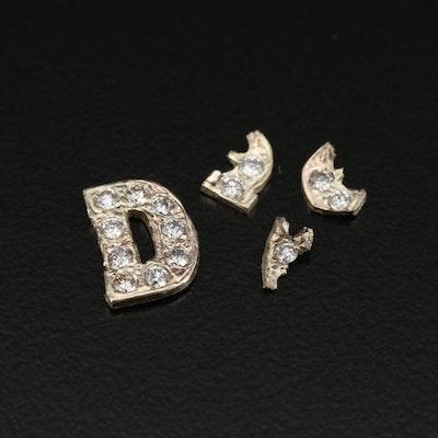 14K Diamond Scrap