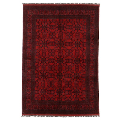 6'10 x 10'0 Hand-Knotted Afghan Turkmen Kunduz Area Rug