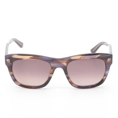 ETRO ET622S Striped Violet Modified Cat Eye Sunglasses