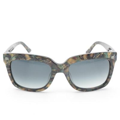 ETRO ET611S Marble Olive Horn-Rimmed Sunglasses