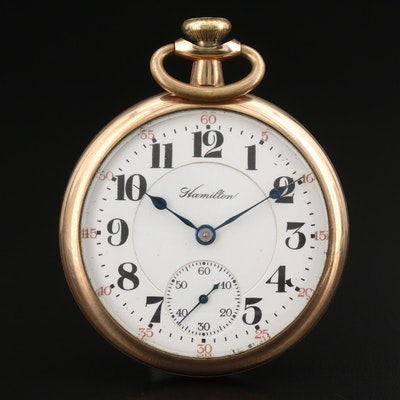 1920 Hamilton Gold Filled Railroad Grade Pocket Watch