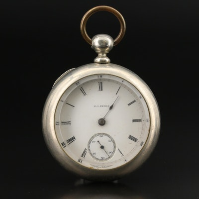 1890 Illinois Oresilver Key Wind and Set Pocket Watch