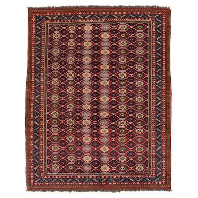 7'5 x 9'5 Hand-Knotted Afghan Kazak Area Rug