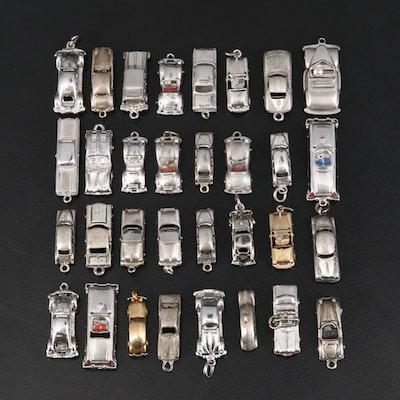 Vintage Sterling Car Charm Selection