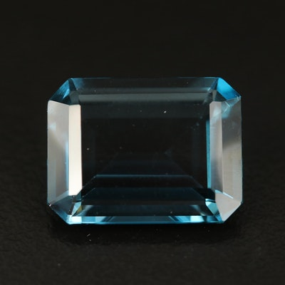 Loose 12.58 CT London Blue Topaz