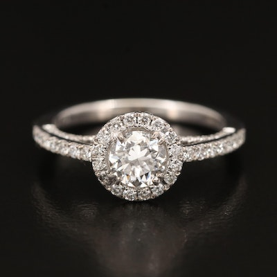 18K 1.13 CTW Diamond Ring with GIA Diamond Dossier