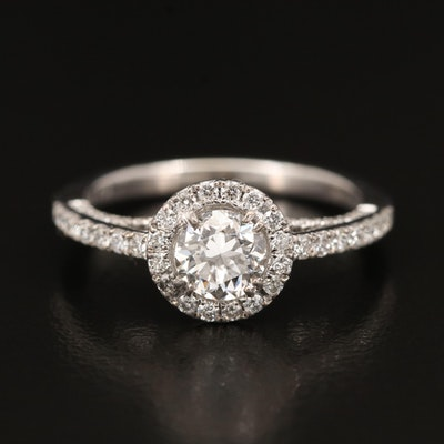 18K 1.13 CTW Diamond Ring with GIA Diamond Dossier