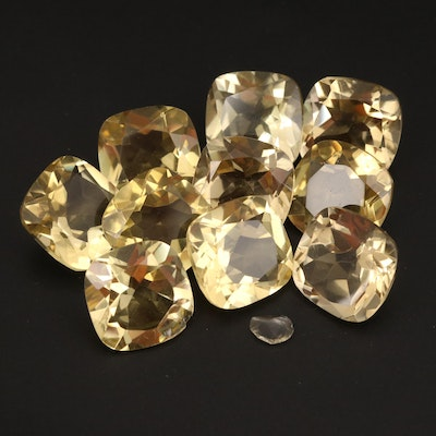 Loose 63.29 CTW Square Faceted Citrines