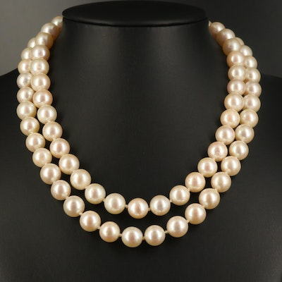 Endless Pearl Strand Necklace