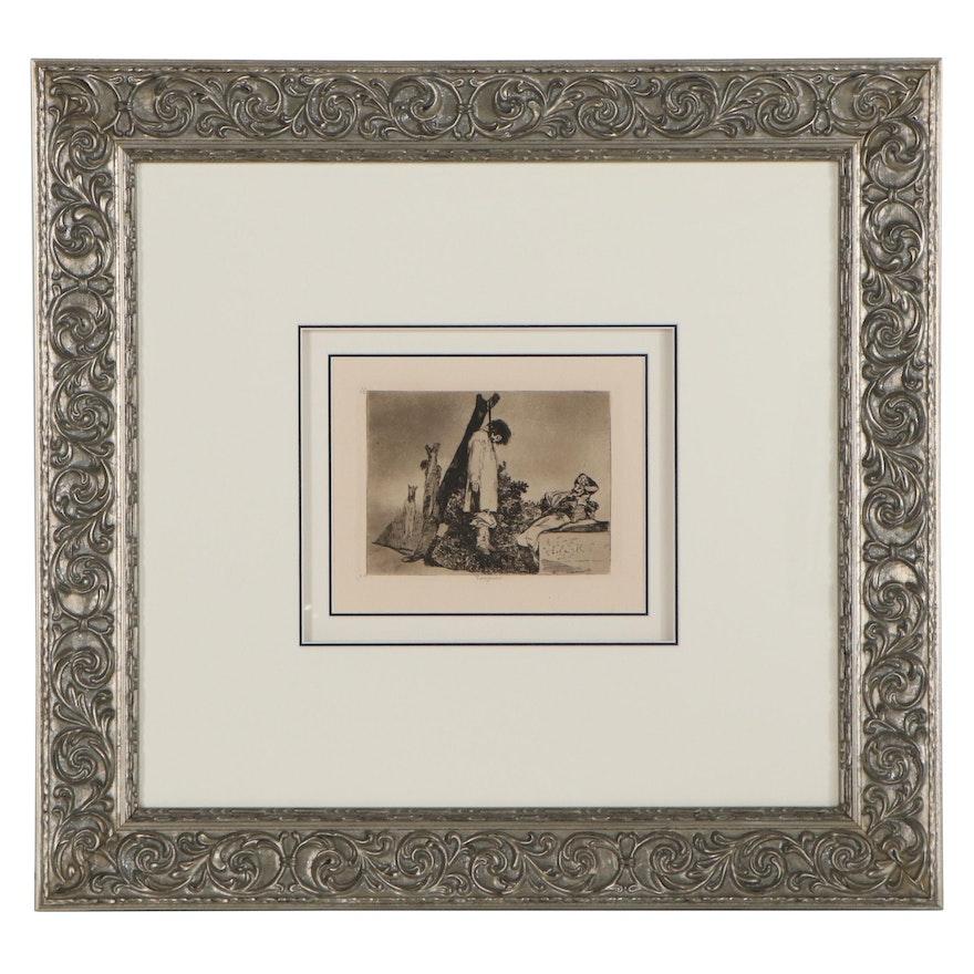 Francisco de Goya Restrike Etching of Tampoco