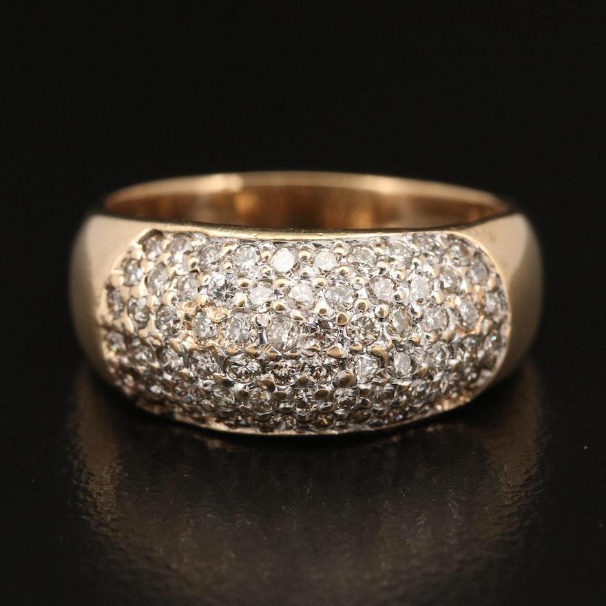 14K Diamond Dome Ring